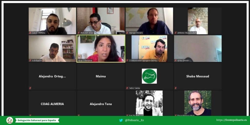 conferencia online del Frente Polisario