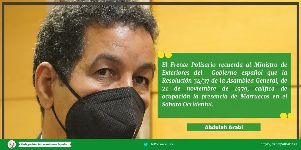 Respuesta del Frente Polisario al ministro de Exteriores de España (COMUNICADO)