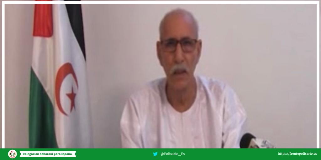 El presidente saharaui Brahim Gali pronunció un discurso a la nación en el marco de la festividad Eid Mubarak