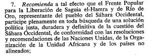 párrafo de la resolución de la ONU