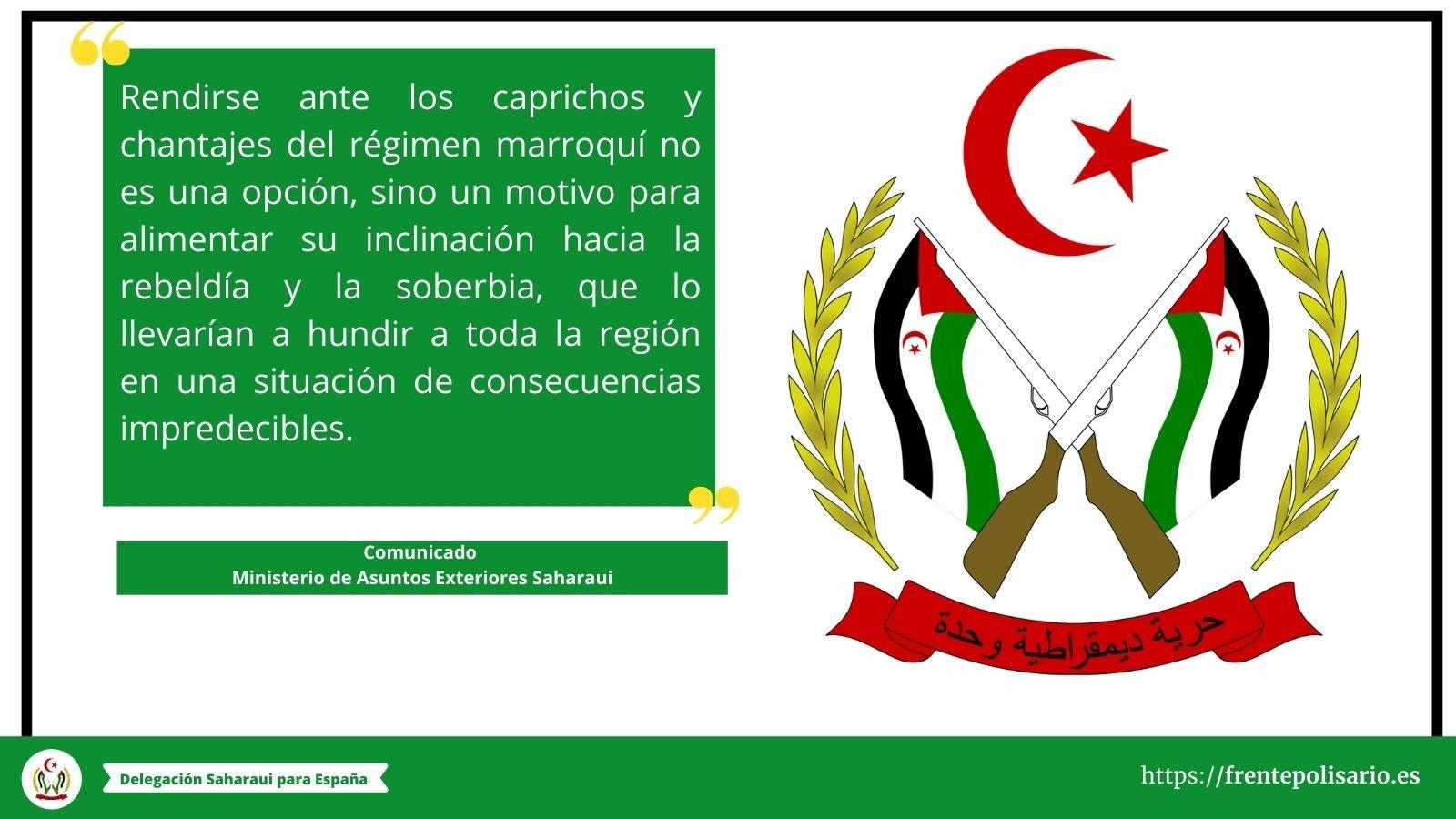 Comunicado del Ministerio de Asuntos Exteriores Saharaui