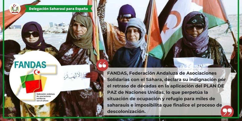 FANDAS apoya la protesta en El Guerguerat y exige a la ONU avances en el Sahara Occidental