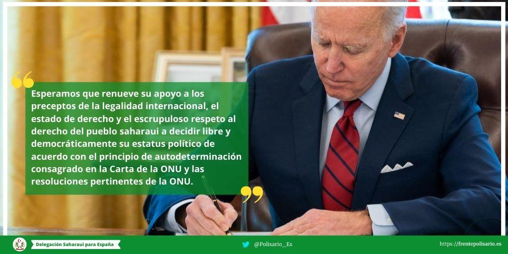 "Mas de 150 diputados de España reclaman a Biden anular ""la decisión unilateral"" de Trump en el Sahara Occidental"