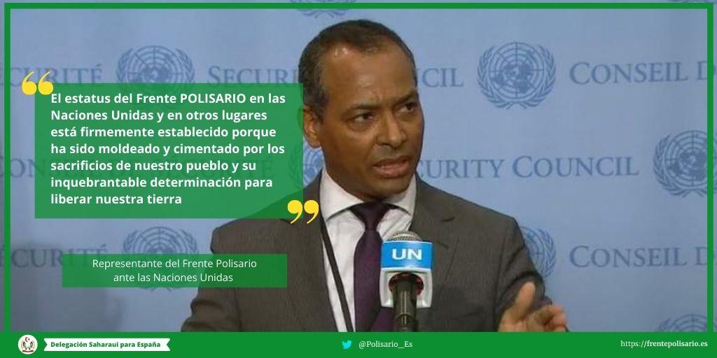 Representante del POLISARIO en la ONU advierte a los Estados miembros sobre falsedades del represente del régimen de ocupación marroquí