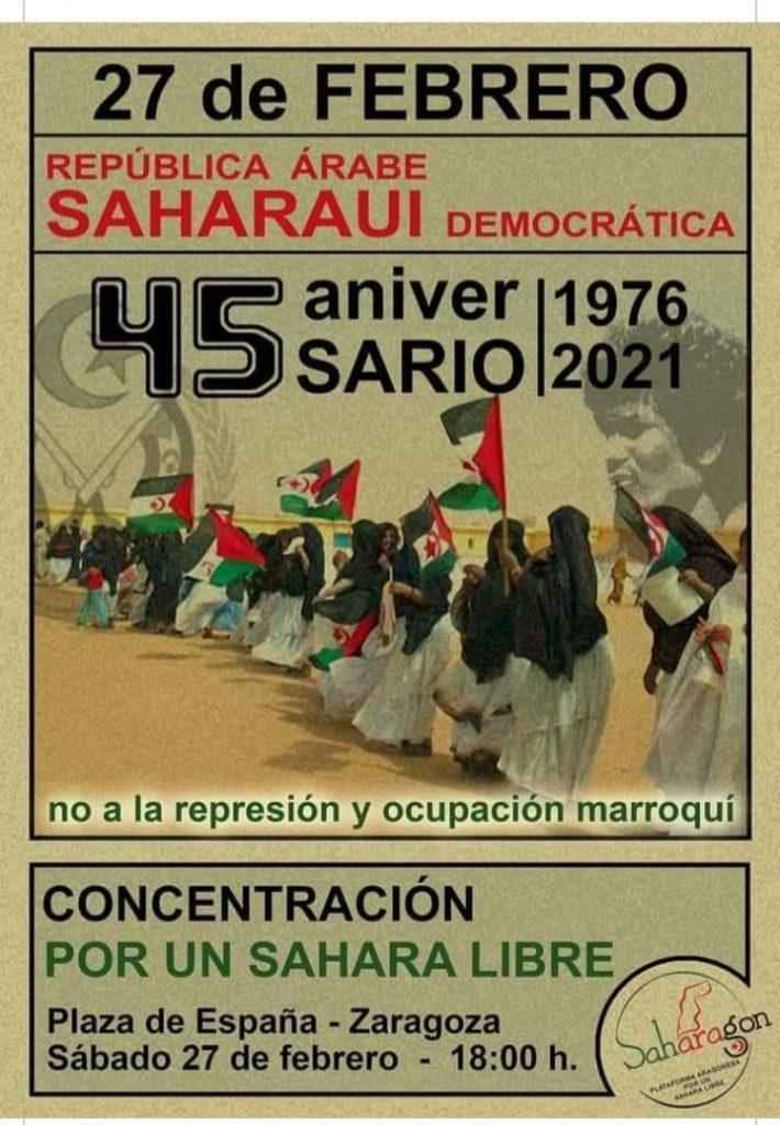 Cartel de una manifestación