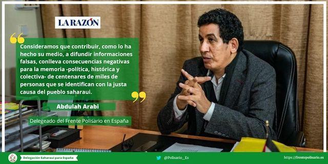 Respuesta de Abdulah Arabi al diario español La Razón
