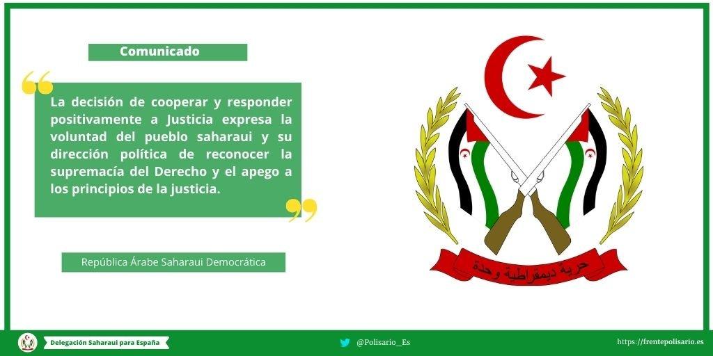 Comunicado de la República Árabe Saharaui Democrática