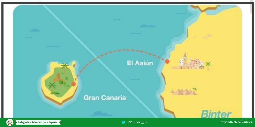 El Polisario llama la atención a BINTER CANARIAS por la programación de vuelos ilegales a zonas ocupadas del Sahara Occidental